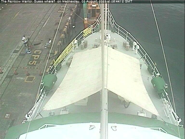 Rainbow Warrior Webcam - 18 Hours Ago